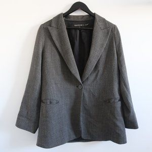 LAFAYETTE 148 NEW YORK Grey Wool Blend Blazer